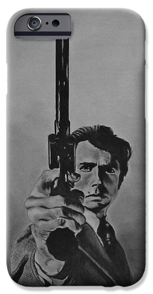 Dirty Pastels iPhone Cases - Clint Eastwood iPhone Case by Kevin Hubbard