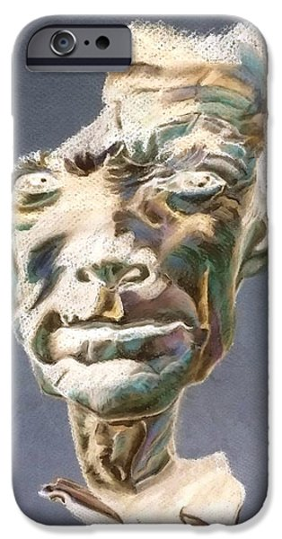 Culture Pastels iPhone Cases - Clint Eastwood Negative iPhone Case by Rob Hans