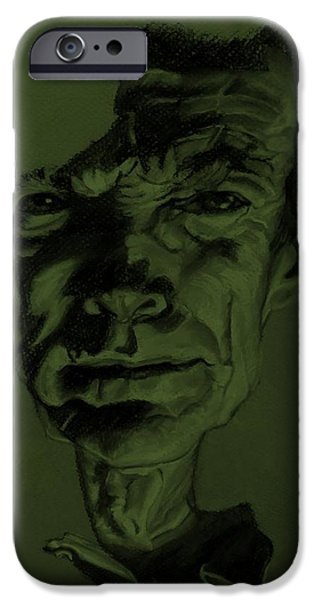 Culture Pastels iPhone Cases - Clint Eastwood Olive Green iPhone Case by Rob Hans