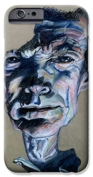 Culture Pastels iPhone Cases - Clint Eastwood Pastels iPhone Case by Rob Hans