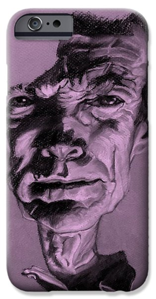 Culture Pastels iPhone Cases - Clint Eastwood Pink iPhone Case by Rob Hans