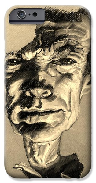 Culture Pastels iPhone Cases - Clint Eastwood Sepia iPhone Case by Rob Hans