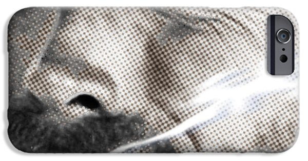 Oil Portrait Photographs iPhone Cases - Clint Eastwood Western iPhone Case by Tony Rubino