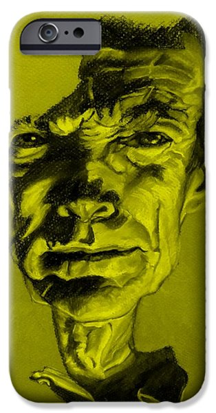 Culture Pastels iPhone Cases - Clint Eastwood Yellow iPhone Case by Rob Hans