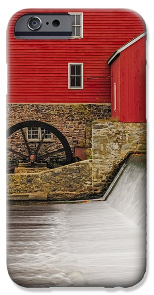 Autumn iPhone Cases - Clinton Historic Red Mill iPhone Case by Susan Candelario