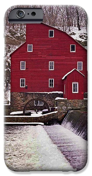 Grist Mill iPhone Cases - Clinton Mill iPhone Case by Skip Willits