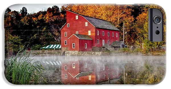 Grist Mill iPhone Cases - Clintons Historic Red Mill iPhone Case by Geraldine Scull