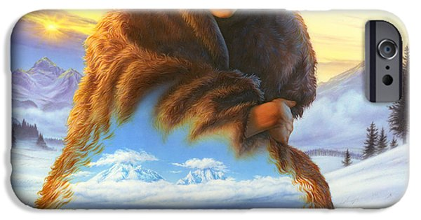 Adult iPhone Cases - Cloak of Visions Buffalo iPhone Case by Andrew Farley