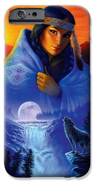 Eagle iPhone Cases - Cloak of Visions Portrait iPhone Case by Andrew Farley