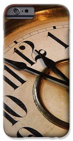 Clock face iPhone Case by Johan Swanepoel