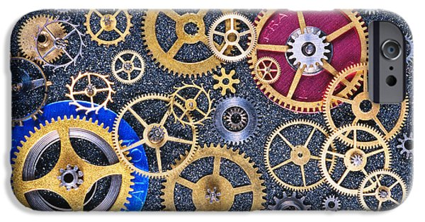 Mechanism iPhone Cases - Clock Gears iPhone Case by Gregory G. Dimijian