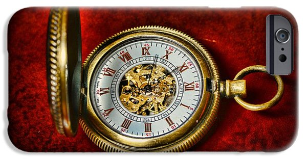 Chronometer iPhone Cases - Clock - The Pocket Watch iPhone Case by Paul Ward
