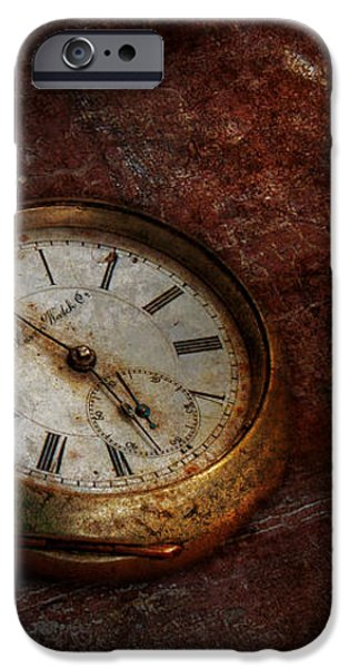 Clock - Time waits iPhone Case by Mike Savad