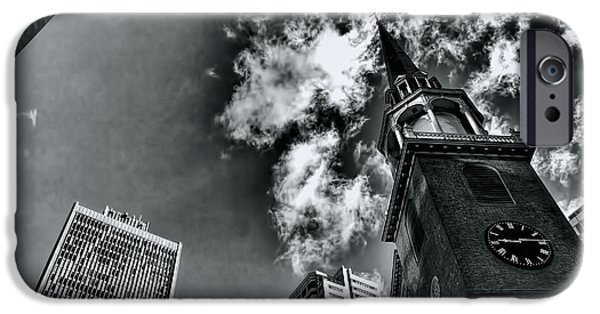 Boston Ma iPhone Cases - Old South Meeting House iPhone Case by Eric R Stoeckel Jr