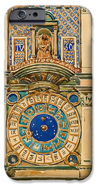 Beauty Mark Paintings iPhone Cases - Clock Tower in Saint Marks Square Venice iPhone Case by Maurice Prendergast