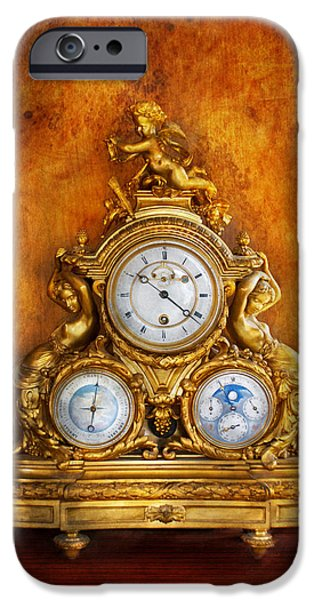 Chronometer iPhone Cases - Clockmaker - Anyone have the time iPhone Case by Mike Savad