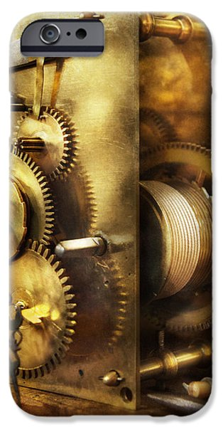 Chronometer iPhone Cases - Clockmaker - We all mesh iPhone Case by Mike Savad