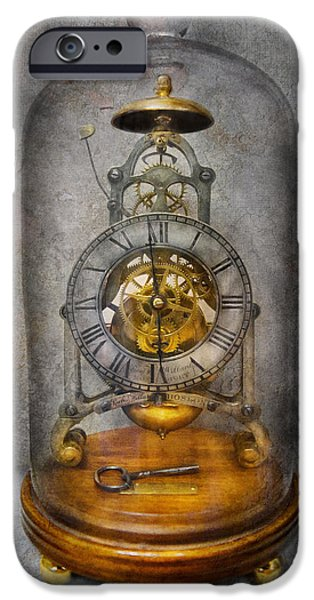 Chronometer iPhone Cases - Clocksmith - The Time Capsule iPhone Case by Mike Savad