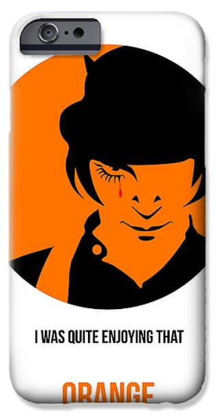 Clockwork iPhone Cases - Clockwork Orange Poster 1 iPhone Case by Naxart Studio