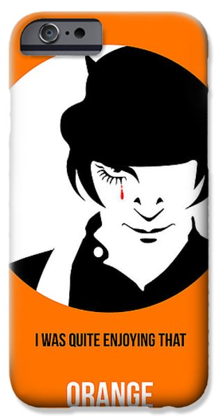 Clockwork iPhone Cases - Clockwork Orange Poster 2 iPhone Case by Naxart Studio