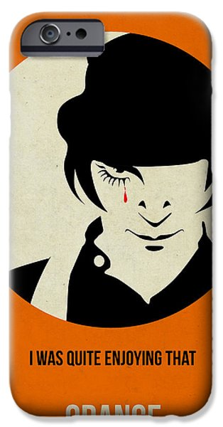 Film Mixed Media iPhone Cases - Clockwork Orange Poster iPhone Case by Naxart Studio