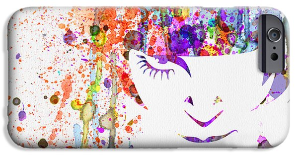 Film Mixed Media iPhone Cases - Clockwork Orange Watercolor iPhone Case by Naxart Studio