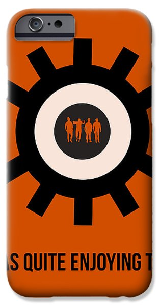 Clockwork iPhone Cases - Clockwork Poster iPhone Case by Naxart Studio