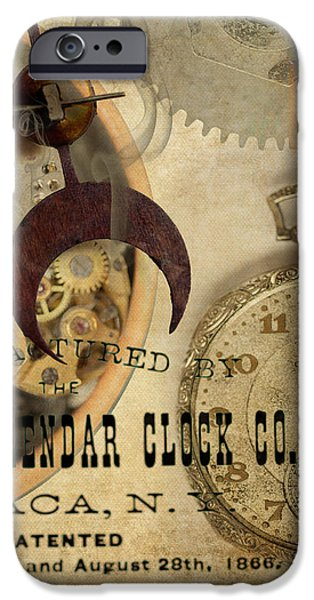 Clockworks iPhone Case by Fran Riley