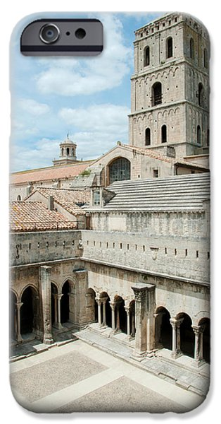 Arles iPhone Cases - Cloister Of St. Trophime, Church Of St iPhone Case by Panoramic Images