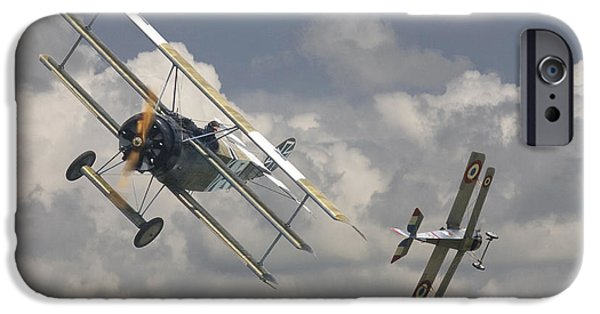 Fokker D V11 iPhone Cases - Close Encounter iPhone Case by Pat Speirs