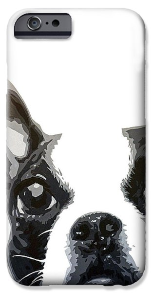 Dog Close-up Paintings iPhone Cases - Close Up iPhone Case by Courtney Kenny Porto