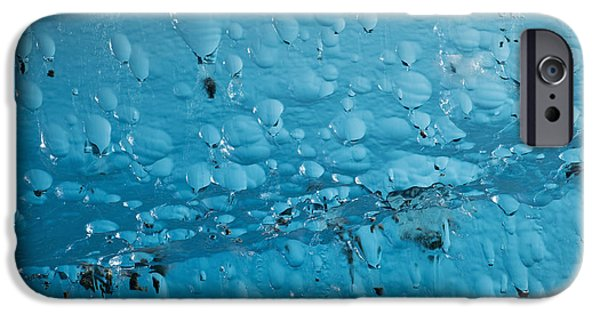 Nature Abstracts iPhone Cases - Close Up Of Air Bubbles In Iceberg iPhone Case by Ray Bulson
