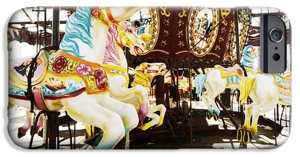 The Horse iPhone Cases - Close-up Of Carousel Horses, Coney iPhone Case by Panoramic Images