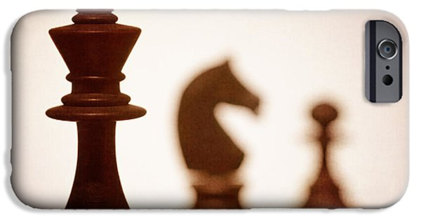 Strategy iPhone Cases - Close Up Of King Chess Piece iPhone Case by Amanda And Christopher Elwell
