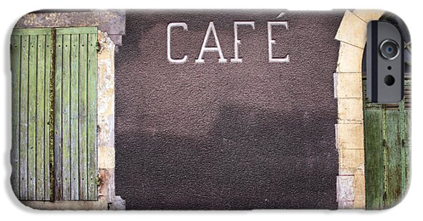 South West France iPhone Cases - Closed Cafe in South-West France iPhone Case by Nomad Art And  Design