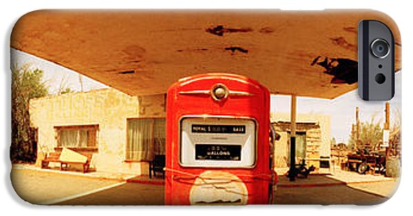 Fuel And Power Generation iPhone Cases - Closed Gas Station, Route 66, Usa iPhone Case by Panoramic Images