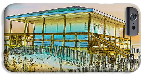 Jetstar Photographs iPhone Cases - Closed Seaside Heights Boardwalk iPhone Case by Gary Keesler