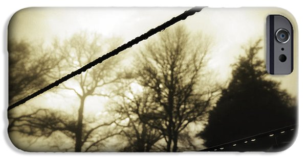 Rainy Day iPhone Cases - Clotheslines  iPhone Case by Les Cunliffe