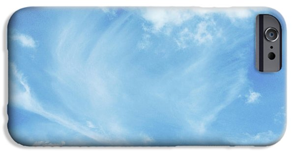 Angel Blues iPhone Cases - Cloud angel iPhone Case by Les Cunliffe