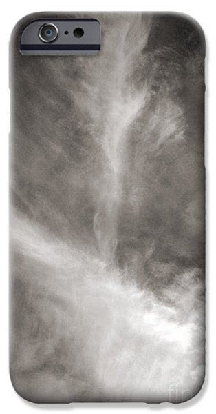 Nature Abstract iPhone Cases - Cloud Feathers 2 iPhone Case by Connie Fox
