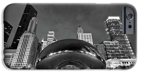 Urban Art iPhone Cases - Cloud Gate and Skyline iPhone Case by Adam Romanowicz