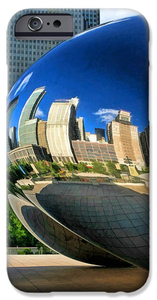 Chicago Paintings iPhone Cases - Cloud Gate Bean iPhone Case by Christopher Arndt