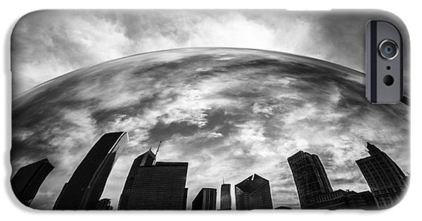 Editorial iPhone Cases - Cloud Gate Chicago Bean iPhone Case by Paul Velgos