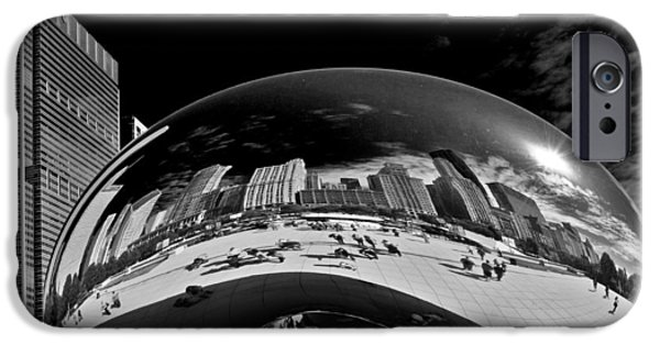 Interior Scene iPhone Cases - Cloud Gate Chicago - The Bean iPhone Case by Christine Till