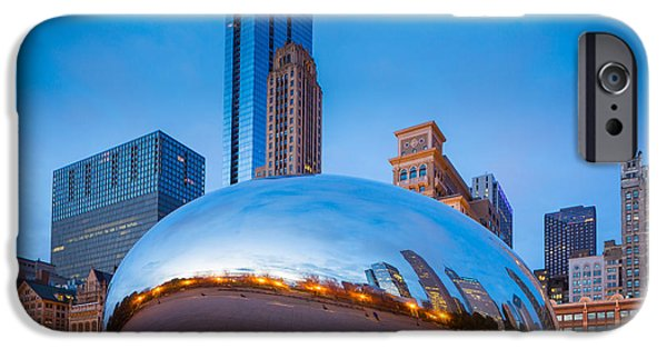 Millennium Park iPhone Cases - Cloud Gate Number 2 iPhone Case by Inge Johnsson