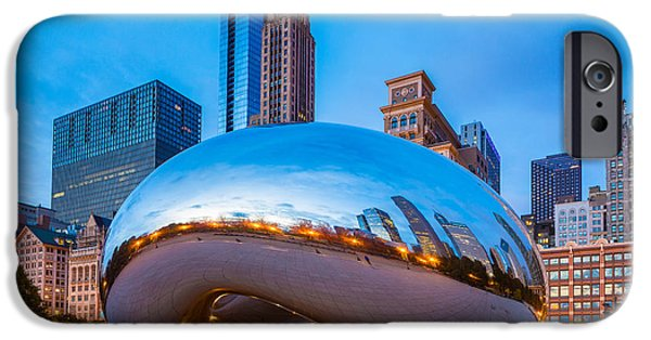 Millennium Park iPhone Cases - Cloud Gate Number 3 iPhone Case by Inge Johnsson