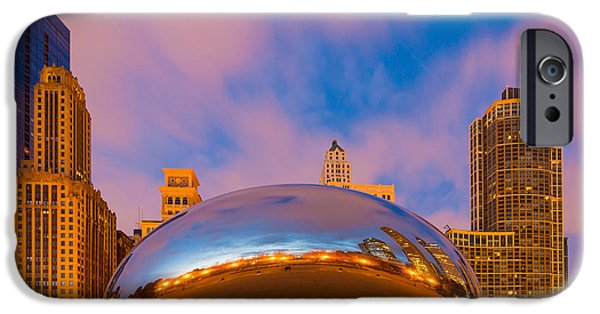 Millennium Park iPhone Cases - Cloud Gate Number 4 iPhone Case by Inge Johnsson