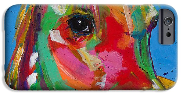 The Horse iPhone Cases - Cloud in Technicolor iPhone Case by Tracy Miller