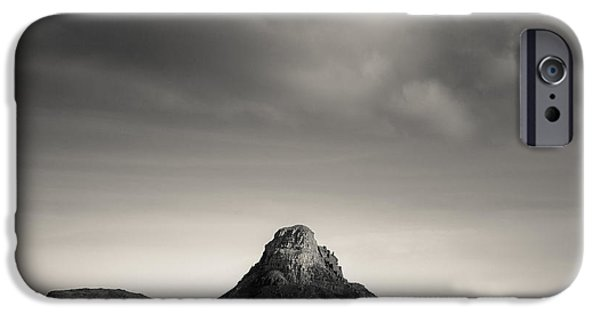Dave iPhone Cases - Clouds Over Stac Pollaidh iPhone Case by Dave Bowman