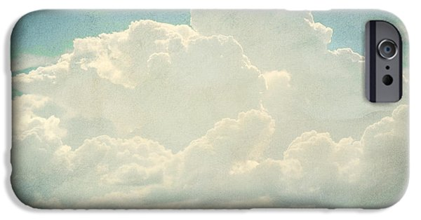Epic Amazing Colors Landscape Digital Modern Still Life Trees Warm Natural Earth Organic Paint Chic Decor Interior Design Brett Pfister Art Digital Art Digital Art iPhone Cases - Cloud Series 2 of 6 iPhone Case by Brett Pfister